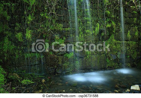 Klein Wand Wasserfall Wand Aus Wasserfall Klein