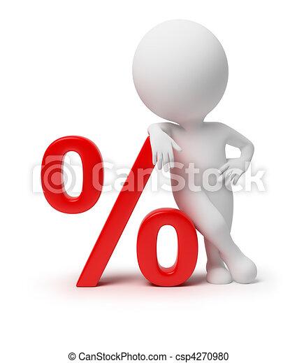 kleine, -, 3d, procent, mensen - csp4270980