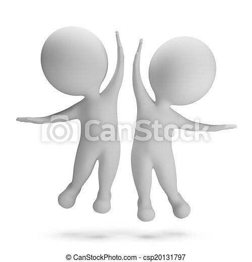 kleine, 3d, -, succes, mensen - csp20131797