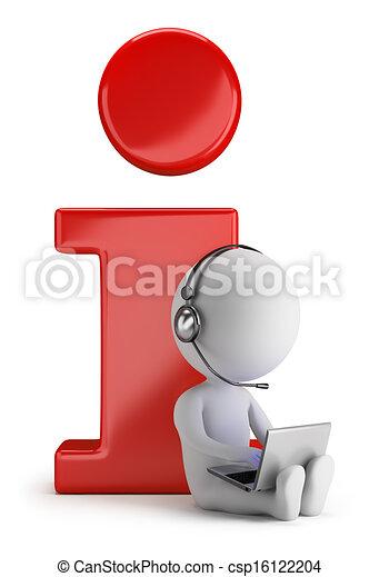 kleine, informatie, 3d, -, mensen - csp16122204