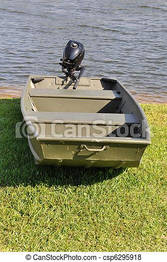 Kleines boot, fischerei, motor. Auf, boot, fischerei, motor, klein ...