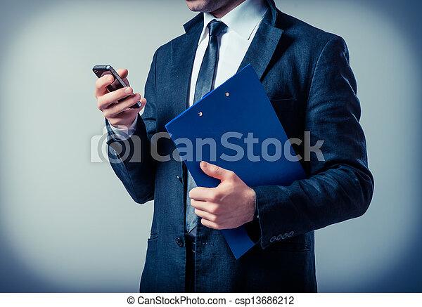 klembord, zakenmens  - csp13686212