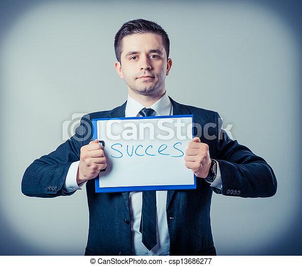 klembord, zakenmens  - csp13686277
