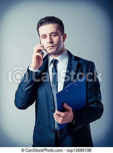 klembord, zakenmens  - csp13686198