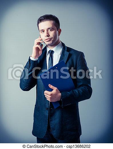 klembord, zakenmens  - csp13686202