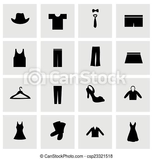kleren, vector, set, pictogram - csp23321518