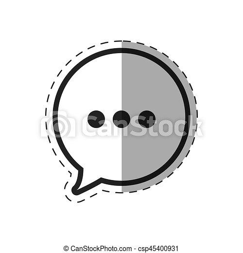 klesten, tekstballonetje, pictogram - csp45400931