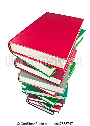 kleur, boekjes , stapel - csp7688747