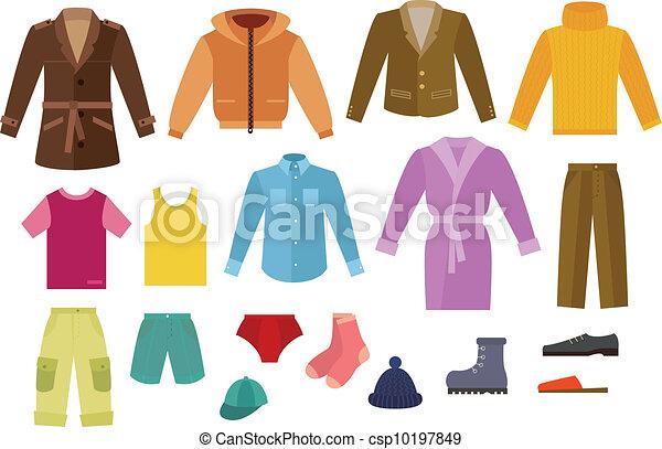 kleur, kleding, verzameling, mens - csp10197849