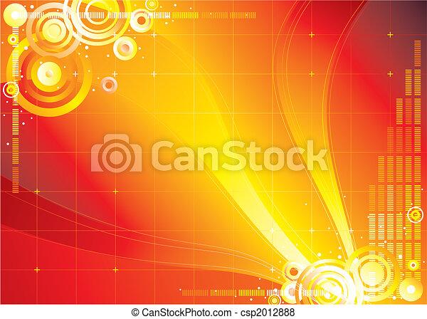 kleur, oneindigheid, rode achtergrond - csp2012888