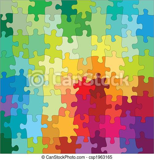 kleur, raadsel, jigsaw - csp1963165