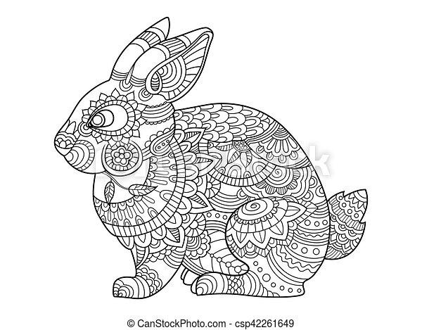 kleuren volwassenen konijntje vector konijn boek