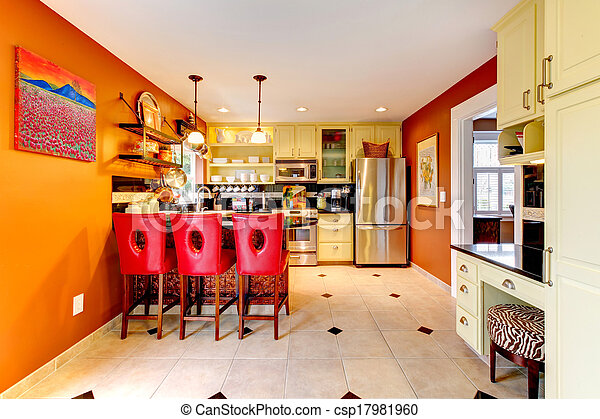 Kleuren warme kamer keuken cozy kabinetten bar kamer