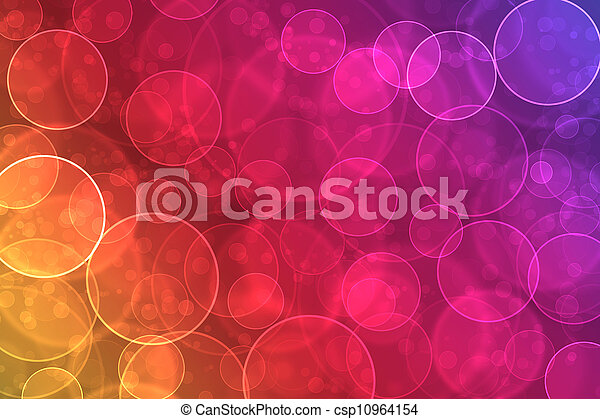 kleurrijke, abstract, effect, bokeh, achtergrond, digitale  - csp10964154