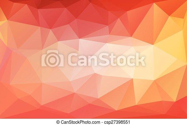 kleurrijke, abstract, style., geometrisch, achtergrond, laag, template., driehoekig, vector, grafisch ontwerp, poly, rumpled, illustrator - csp27398551