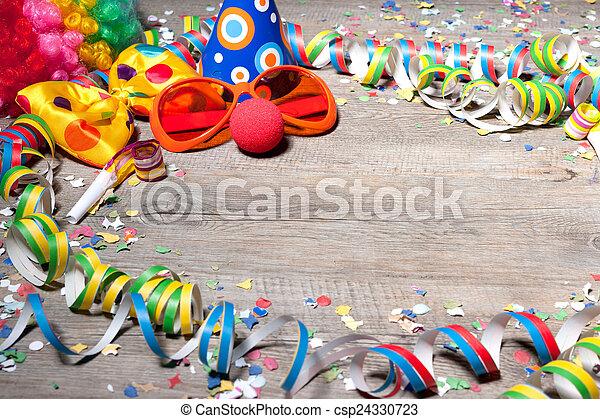 kleurrijke, carnaval, achtergrond - csp24330723