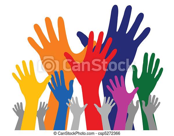 kleurrijke, hand - csp5272366