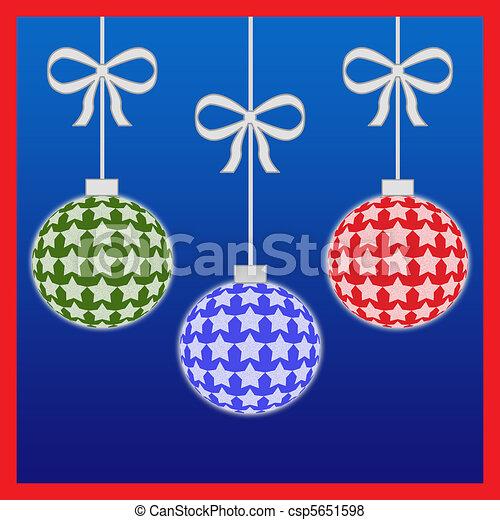 kleurrijke, kerstballen - csp5651598