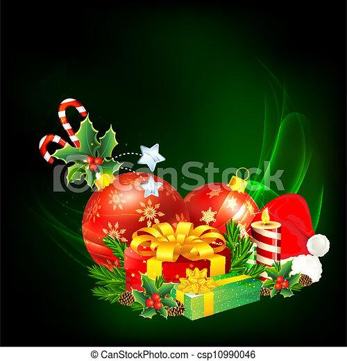kleurrijke, kerstkado - csp10990046