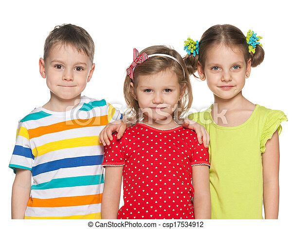 kleuters, het glimlachen - csp17534912