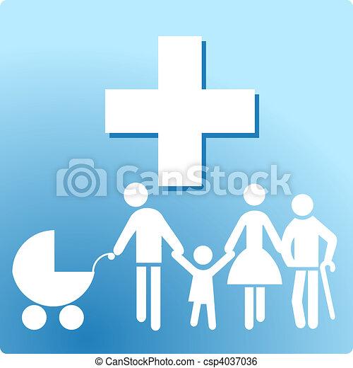 klinik, familie - csp4037036