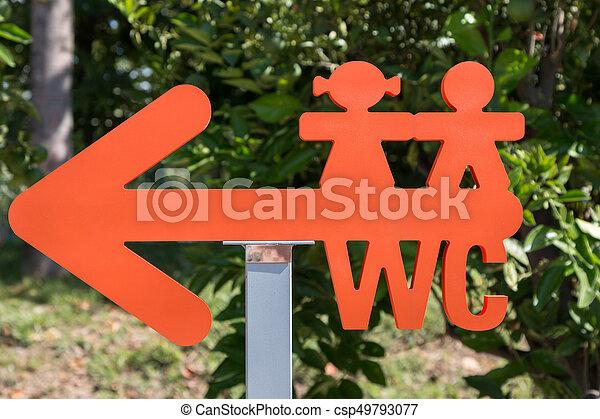 Klo Arrow Shaped Symbol Toilette Kinder Sign Klo Arrow Shaped