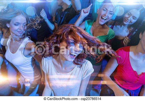 klub, lächeln, friends, tanzen - csp23786514