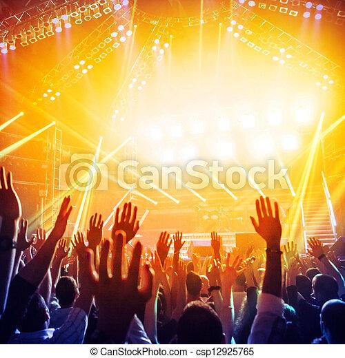 klub, party, nacht - csp12925765