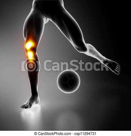 knä, sport, stressa, skarv - csp11294731