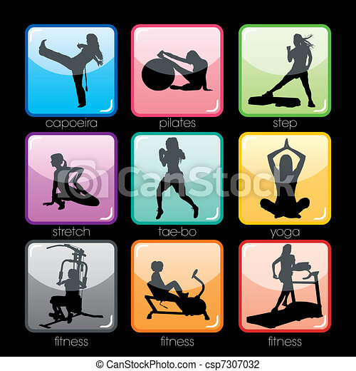 knäppas, sätta, fitness - csp7307032