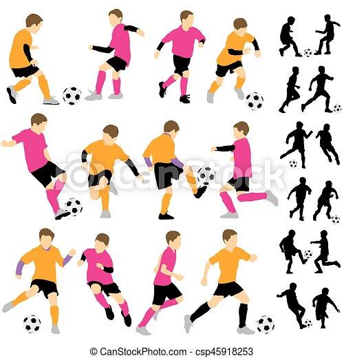 Knaben Fussball Kinder Fussball Spielende Kugel Fussball