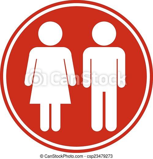 knap, mandlig, kvindelig - csp23479273