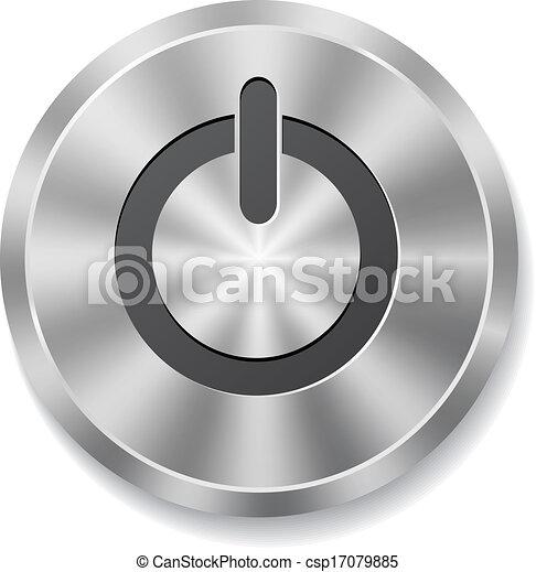 knap, metal, omkring, energi - csp17079885