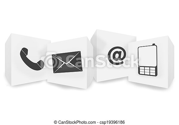 knapp, kontakta, design, oss, ikon - csp19396186