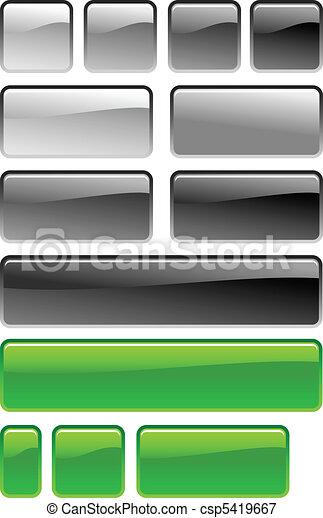 knapp, set fyrkantiga - csp5419667