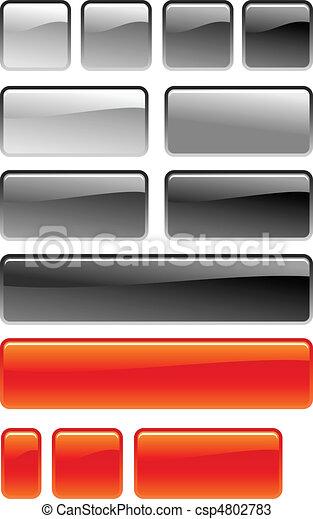 knapp, set fyrkantiga - csp4802783