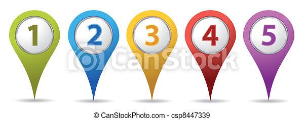 knappenål, lokaliseringen, antal - csp8447339