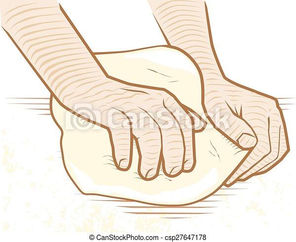 Kneading Dough - csp27647178