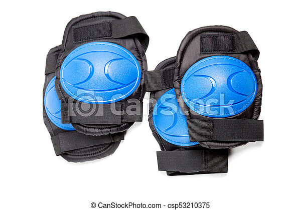 Knee pads and elbow pads isolated on white background - csp53210375