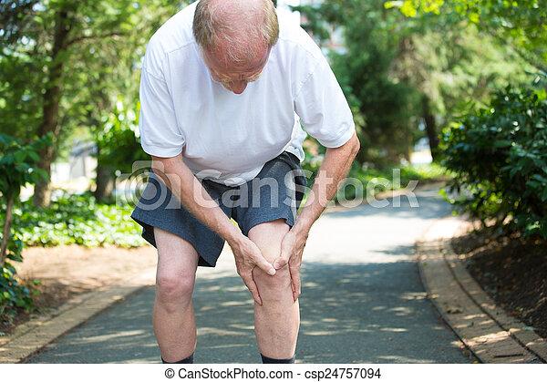 Knee pain - csp24757094
