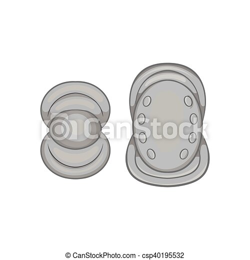 Knee protector and elbow pad icon - csp40195532