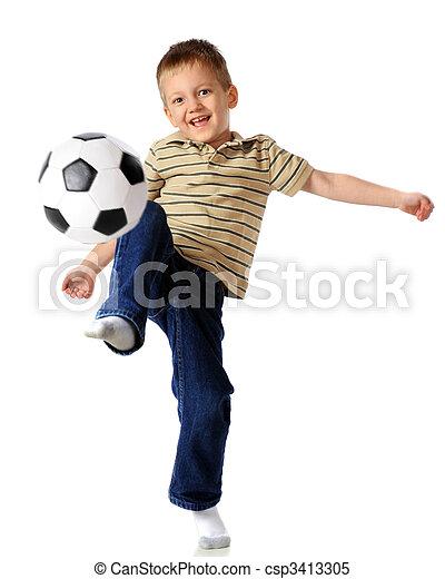 Kneeing the Ball - csp3413305