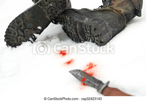 Knife And Boots - csp32423143