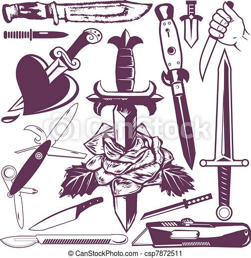 Knife and Dagger Collection - csp7872511