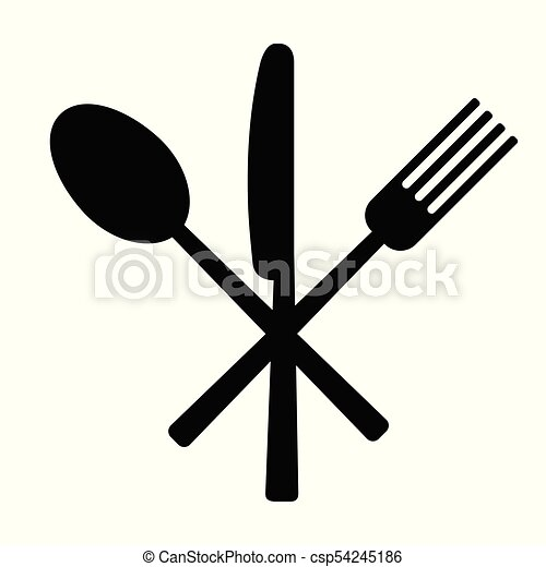 knife fork and spoon on white background vector vector search rh canstockphoto ca knife and fork clipart free free knife and fork clipart