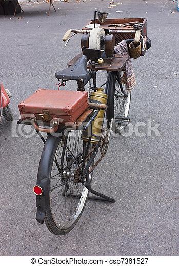 knife grinder's bicycle - csp7381527