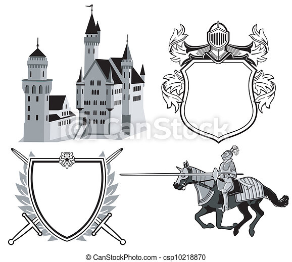 Knight and castle - csp10218870