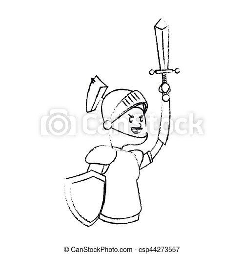 knight cartoon icon - csp44273557