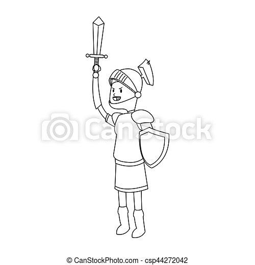 knight cartoon icon - csp44272042