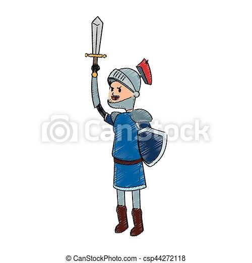 knight cartoon icon - csp44272118
